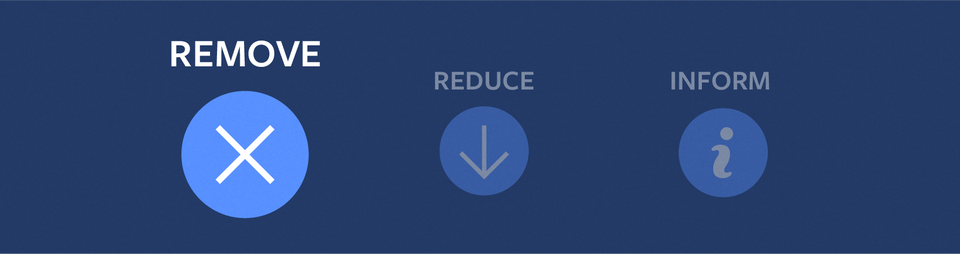 Remove, Reduce, Inform: New Steps to Manage Problematic Content