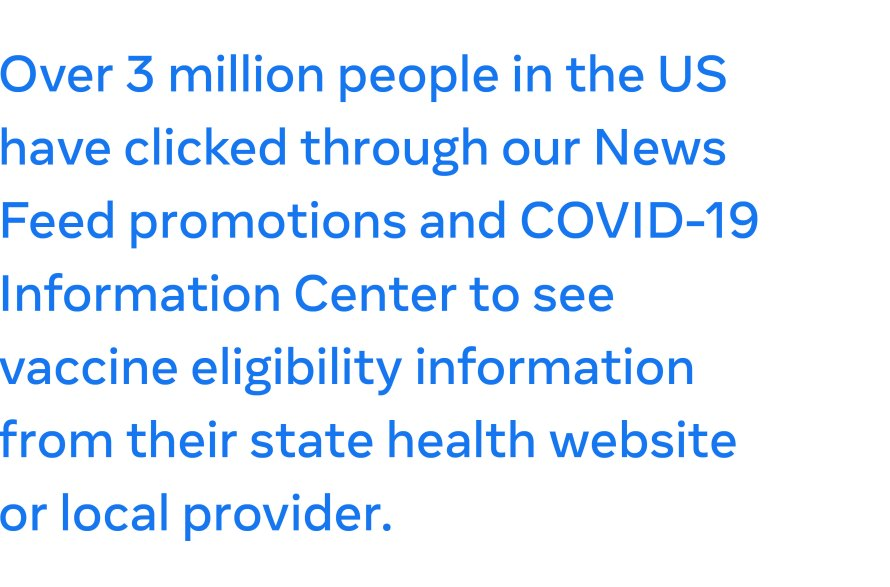 Connecting People in the US With State COVID-19 Vaccine Information